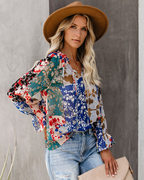Patchwork With Love Shimmer Blouse