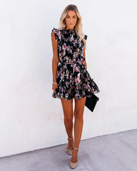 Patio Play Floral Ruffle Dress
