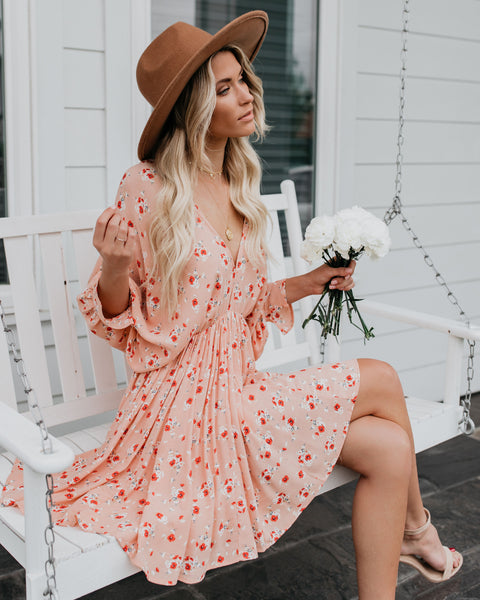 Peaches + Cream Babydoll Swing Dress