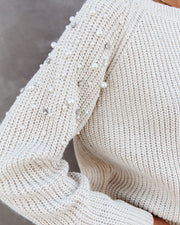 PREORDER - Pearls And Diamonds Embellished Knit Sweater