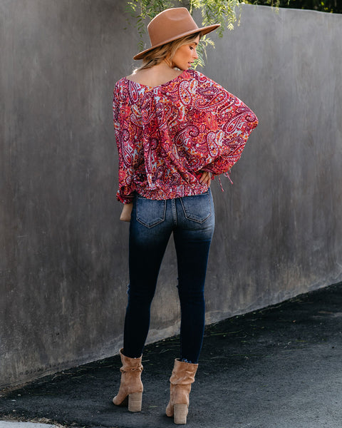 Perfectly Content Paisley Printed Blouse