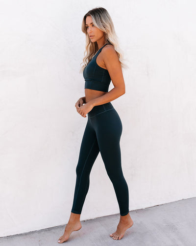 Performance Legging - Forest Green