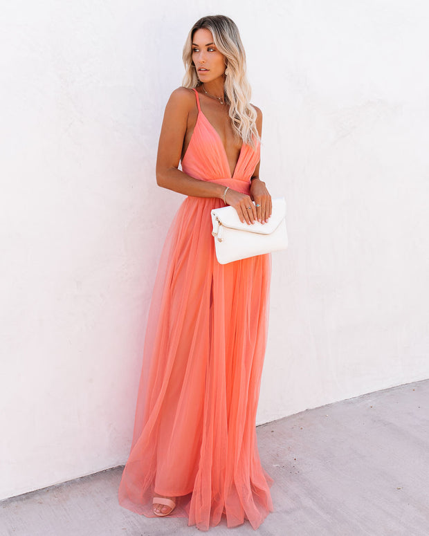 Petal Dust Maxi Dress - Apricot view 5