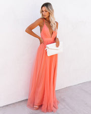 Petal Dust Maxi Dress - Apricot view 6