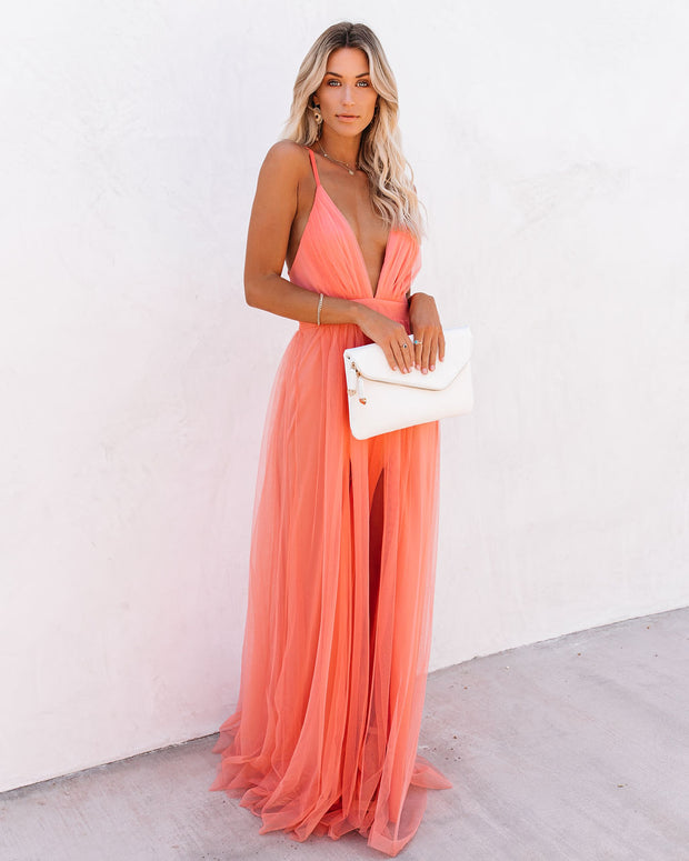 Petal Dust Maxi Dress - Apricot view 1