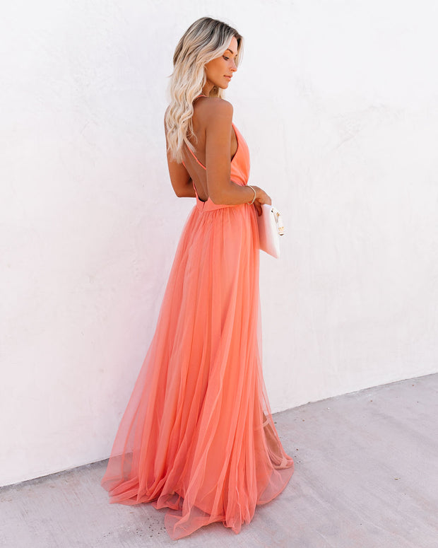 Petal Dust Maxi Dress - Apricot view 7