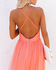 Petal Dust Maxi Dress - Apricot view 2