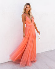 Petal Dust Maxi Dress - Apricot view 9