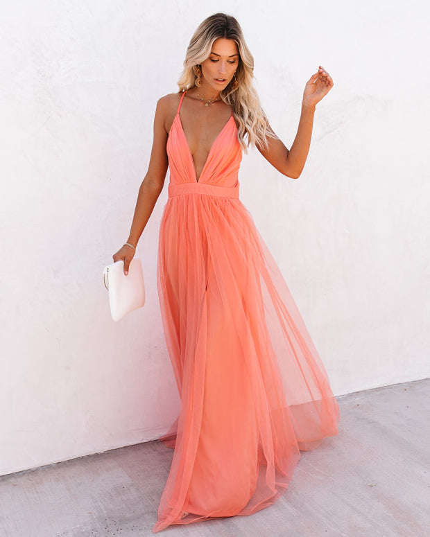 Petal Dust Maxi Dress - Apricot view 3