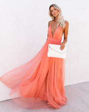 Petal Dust Maxi Dress - Apricot view 10