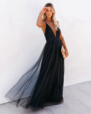 Petal Dust Maxi Dress - Steel