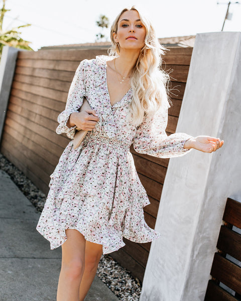 Petal Perfect Tiered Ruffle Dress