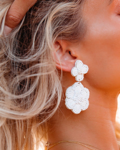 Petunia Beaded Statement Earrings