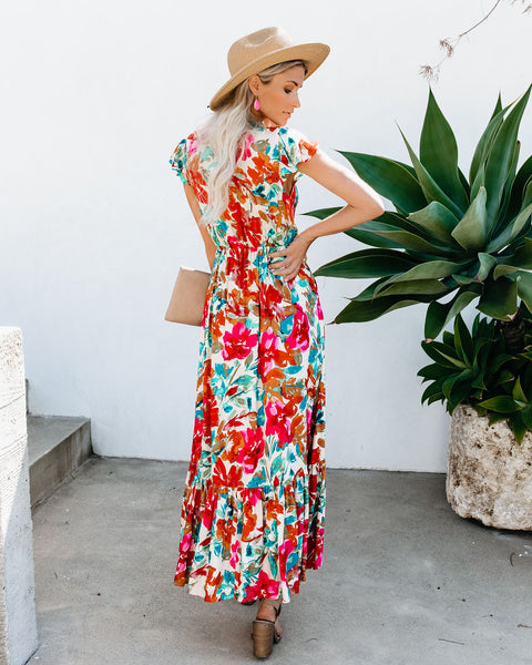 Petunia High Low Pocketed Tie Maxi Dress
