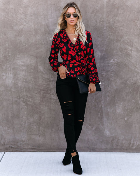 Philippa Floral Ruffle Blouse - FINAL SALE