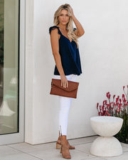 Picturesque Lace Detailed Tank - Navy