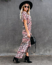 Piece By Piece Printed Ruffle Maxi Dress - FINAL SALE