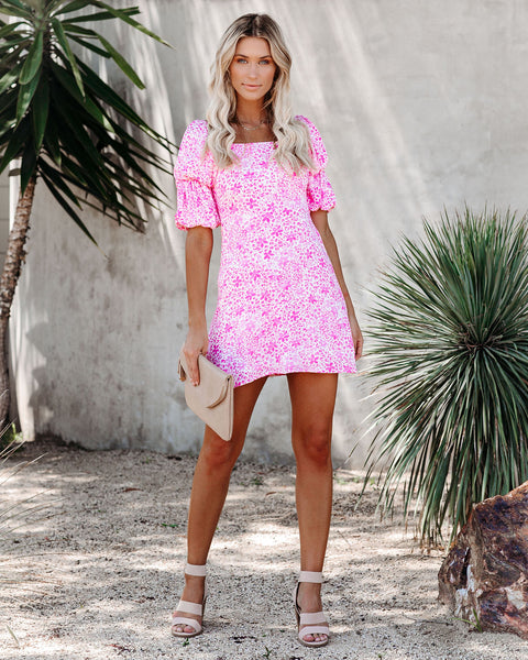 Pink Lemonade Floral Dress - FINAL SALE