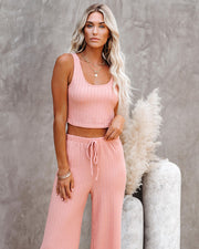 Pismo Ribbed Crop Knit Tank - Dusty Pink