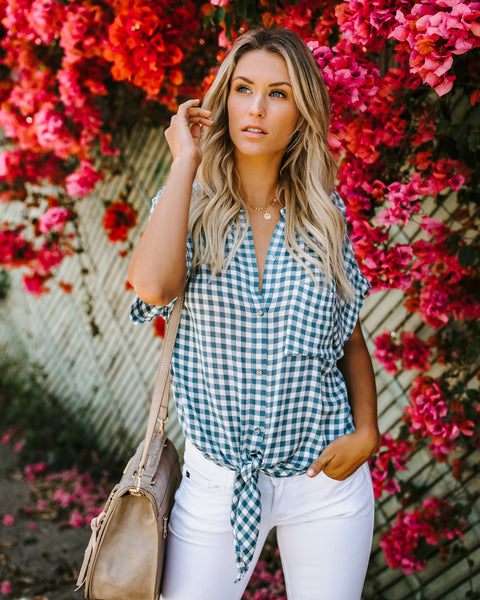 Button Down Westminster Tie Top