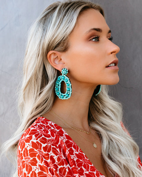 Point Reyes Statement Earrings - Turquoise
