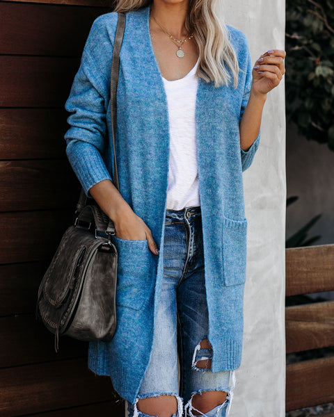 Polar Plunge Pocketed Knit Cardigan