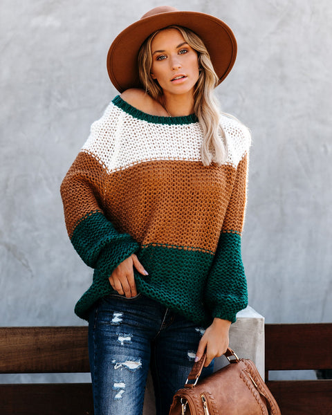 Polly Colorblock Knit Sweater - FINAL SALE