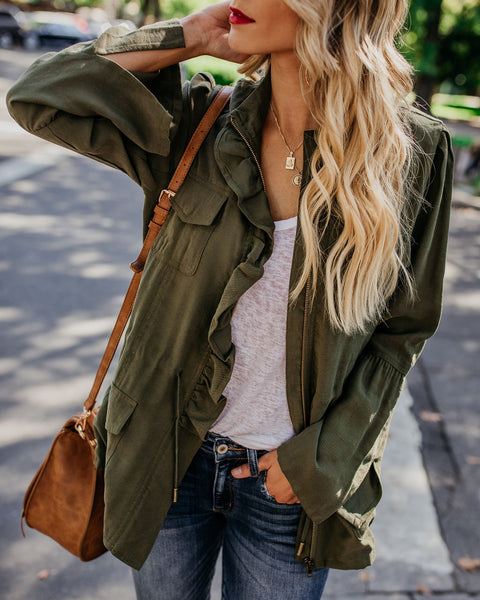 Polly Pocketed Ruffle Cargo Jacket