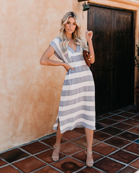 Poolside Cotton Striped Dress