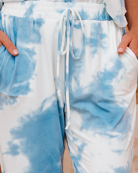 Pop The Sunroof Pocketed Tie Dye Knit Joggers