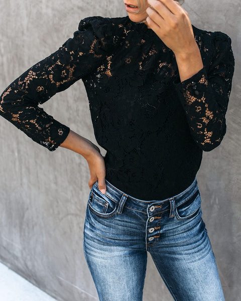 Portals Of The Past Lace Top - Black - FINAL SALE