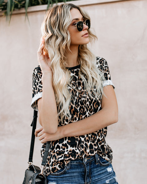 Pounce On You Leopard Tee