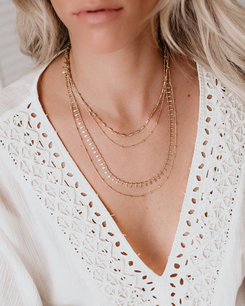 Powerhouse Layered Necklace - Gold