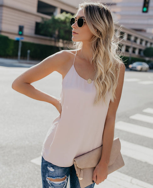 Practice Makes Perfect Racerback Tank - Blush