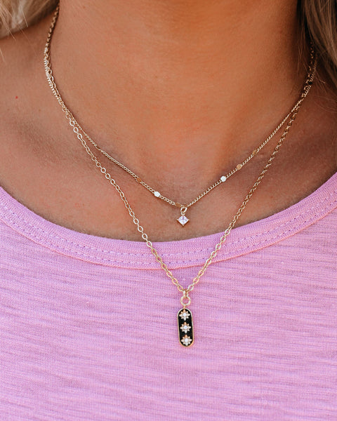 Precious Layered Pendant Necklace