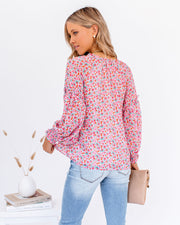 Predictions Floral Smocked Blouse