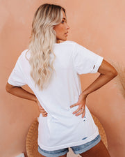 Pucker Up Distressed Cotton Tee
