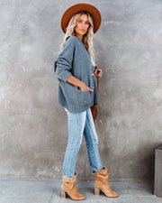Quaint Pocketed Button Front Cardigan - Asphalt