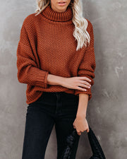 Quay Turtleneck Knit Sweater - Ginger