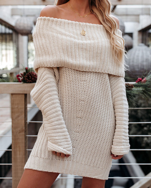 Railroads Ribbed Knit Sweater - Cream - FINAL SALE