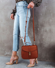Ramona Faux Leather Crossbody Handbag - Cognac