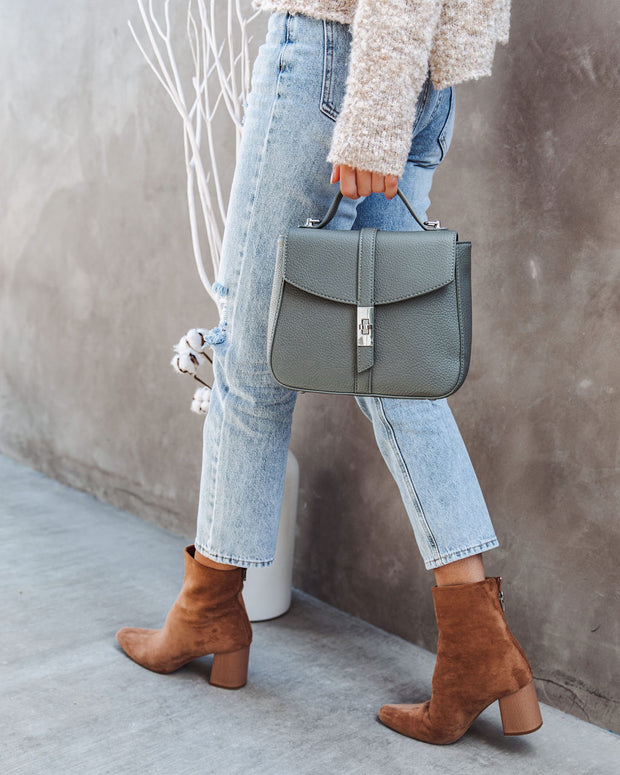 Ramona Faux Leather Crossbody Handbag - Dusty Teal
