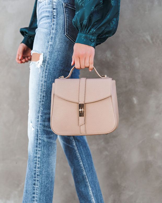 Ramona Faux Leather Crossbody Handbag - Taupe