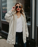 Magdalene Pocketed Cardigan - Cream - FLASH SALE