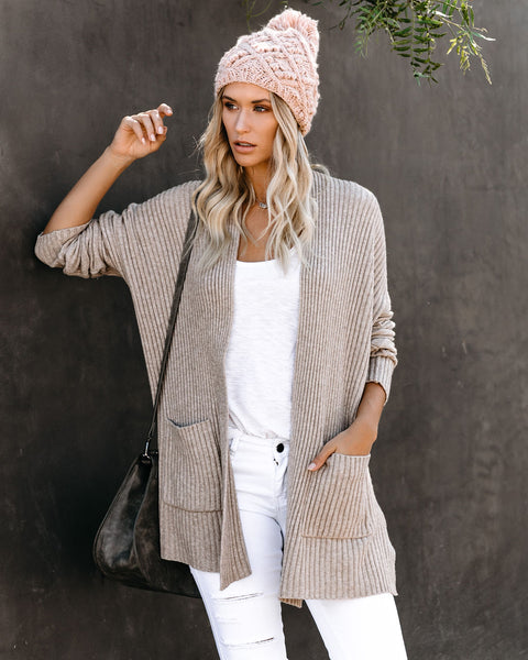 Rayanne Pocketed Ribbed Cardigan