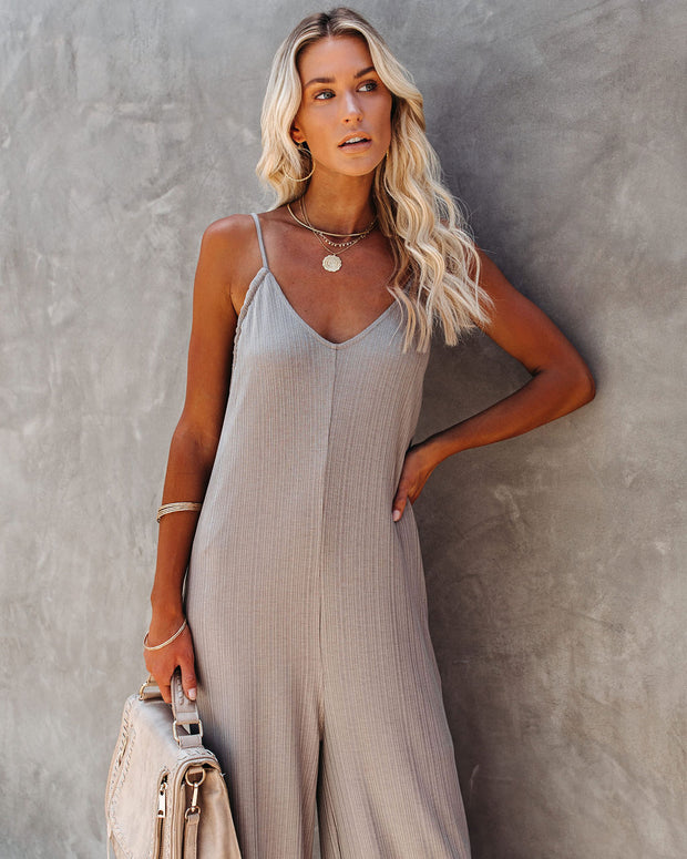 Ready Or Not Knit Jumpsuit - Grey - FINAL SALE