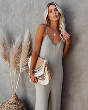 Ready Or Not Knit Jumpsuit - Olive