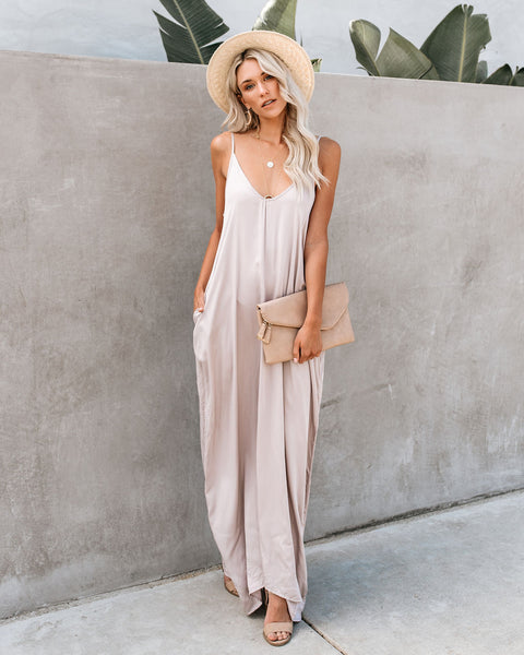 Really Living Olivian Pocketed Maxi Dress - Cloud