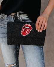 Reckless Handmade Beaded Crossbody Clutch
