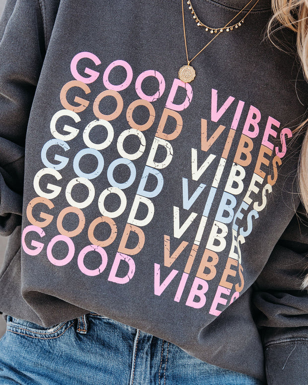 Repeat The Good Vibes Cotton Blend Sweatshirt view 4